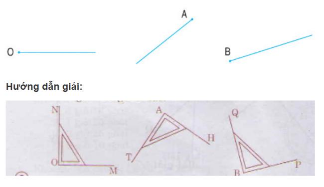 Giải bài tập toán lớp 3: Thực hành nhận biết và vẽ góc vuông bằng eke bài 1