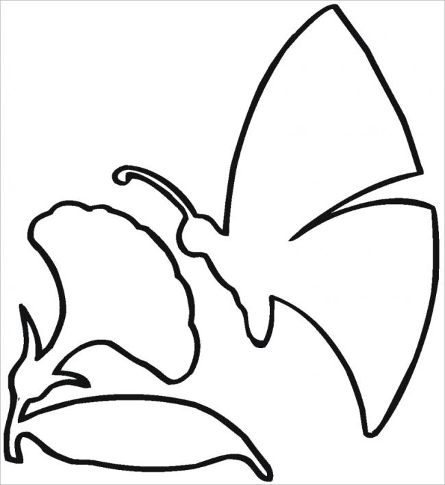 Hình ảnh con bướm bên hoa