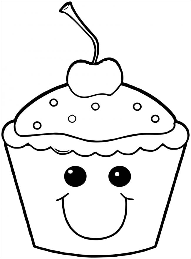 hình ảnh tô màu cho ly kem