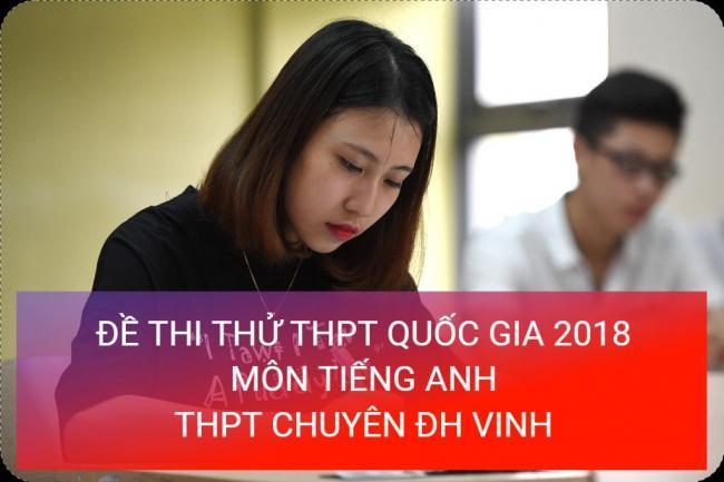 học sinh làm đề thi thử môn Anh THPT trường chuyên đại học Vinh