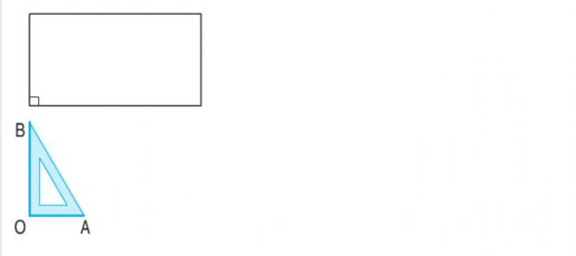 Giải bài Góc vuông - góc không vuông trang 42 sách giáo khoa bài 1