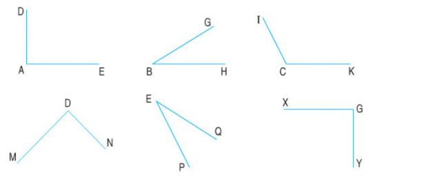 Giải bài Góc vuông - góc không vuông trang 42 sách giáo khoa bài 2
