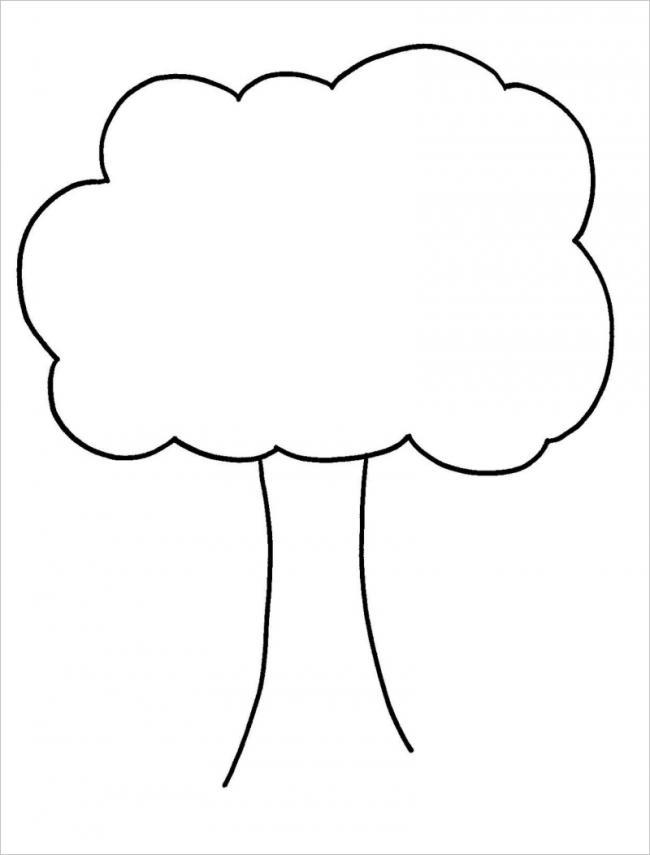 Tranh tô màu cây xanh đơn giản nhất