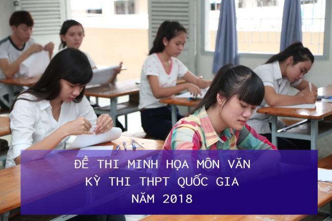 học sinh giải đề thi minh họa THPT quốc gia môn văn năm 2018
