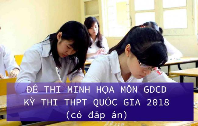 học sinh giải đề thi giáo dục công dân THPT quốc gia 2018