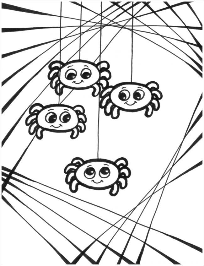 4 chú nhện con đáng yêu