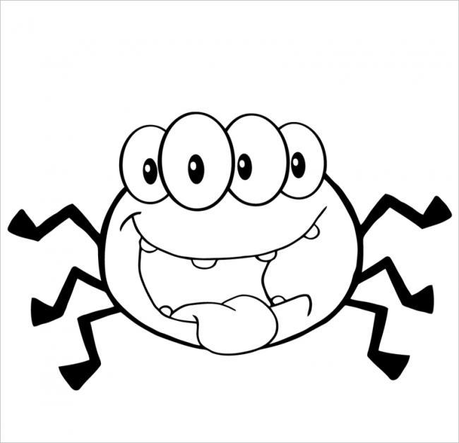 hình ảnh nhện con vui vẻ