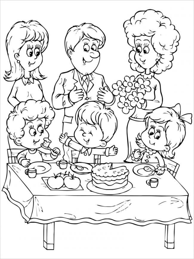 sinh nhật vui vẻ bên gia đình