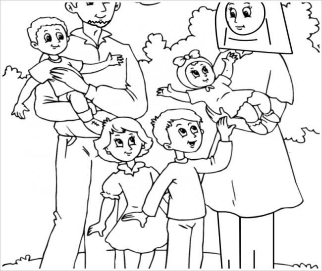 Gia đình đông đúc của bé