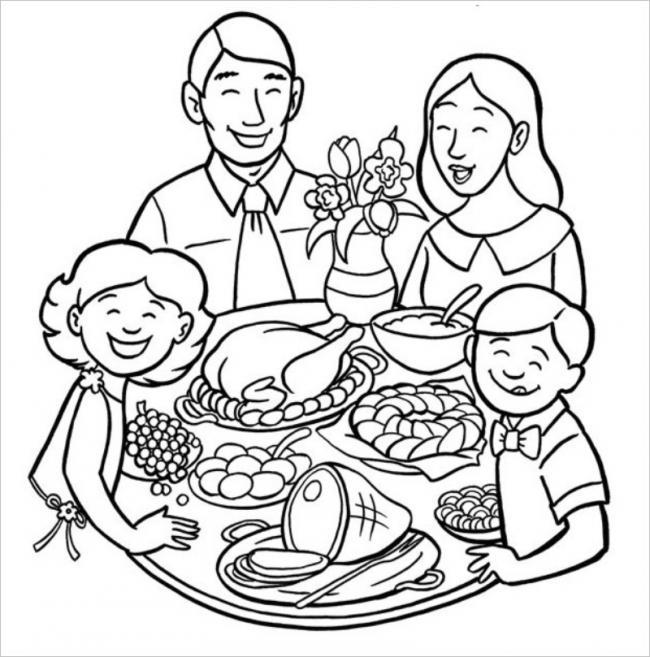 hình ảnh gia đình ăn cơm