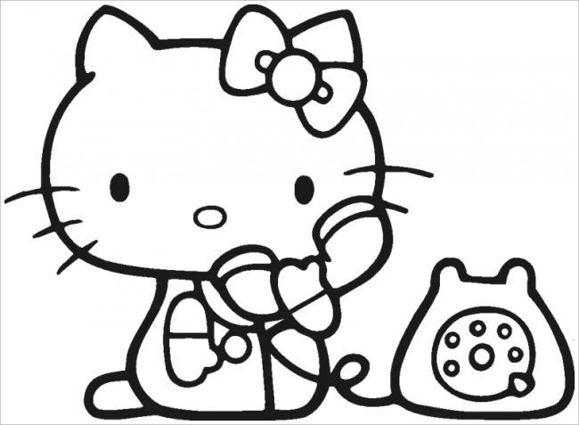 Mèo Hello Kitty gọi điện