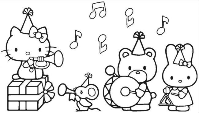 hình ảnh Hello Kitty thổi kèn