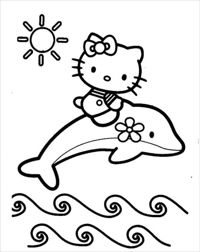 Hello Kitty cưỡi cá voi