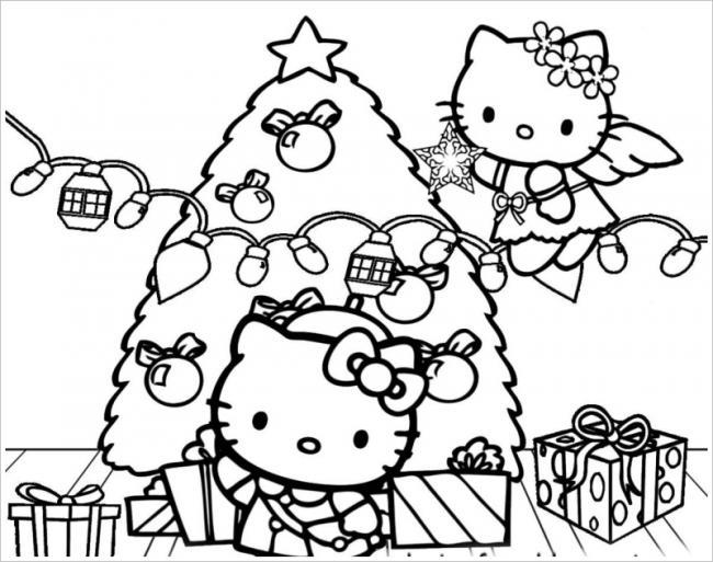 Hello Kitty trang hoàng Noel
