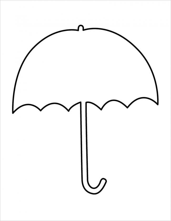 Hình vẽ chiếc ô đơn giản