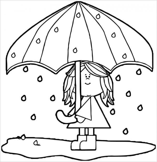 Chiếc ô che mưa cho bé