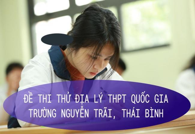 học sinh làm đề thi thử THPT quốc gia môn địa lý