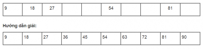 Hướng dẫn giải bài tập bảng nhân 9 sách giáo khoa toán lớp 3 bài 4