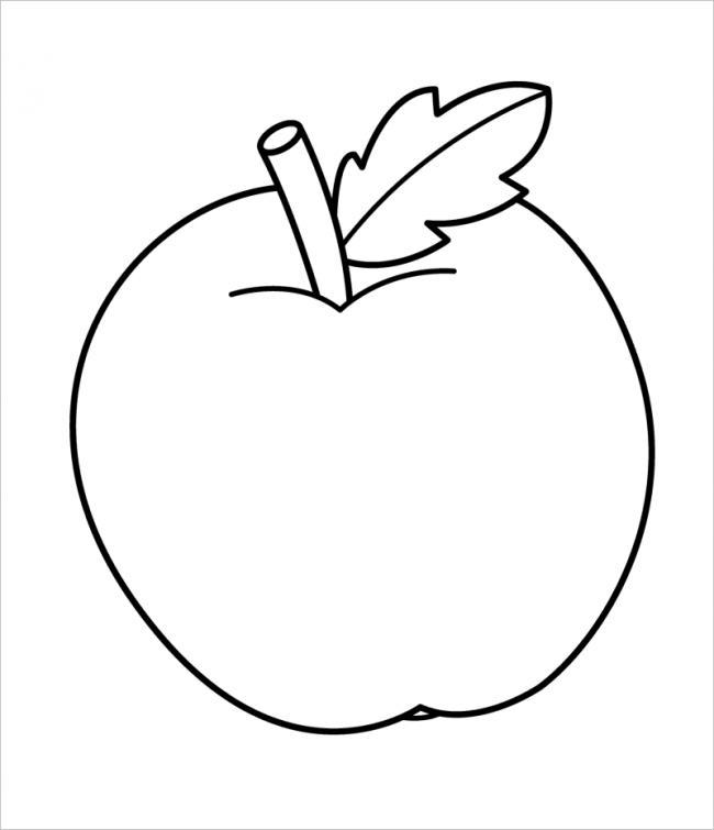 Hình vẽ trái táo đơn giản