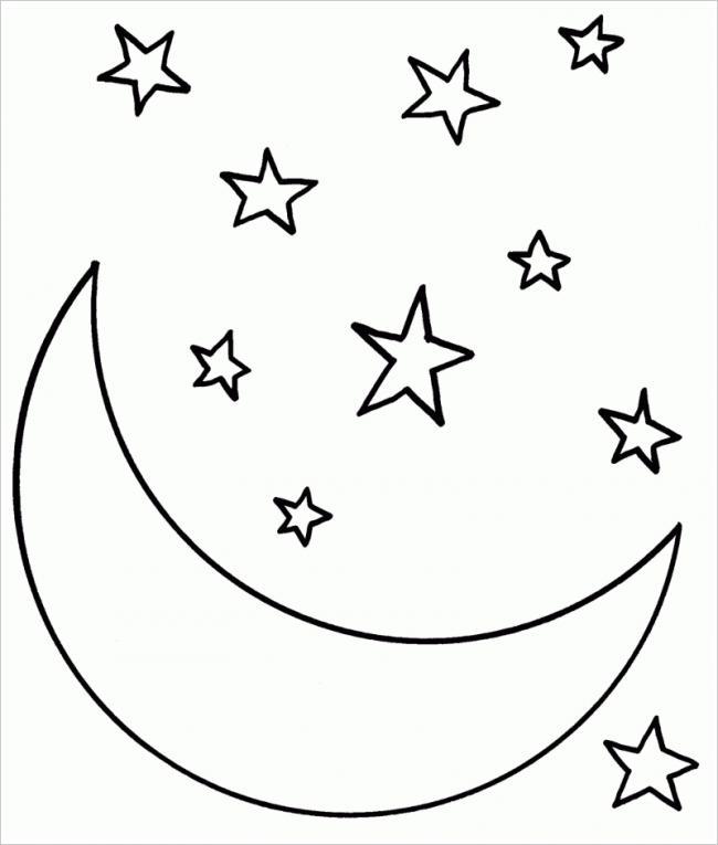 Mặt trăng và các ngôi sao lấp lánh
