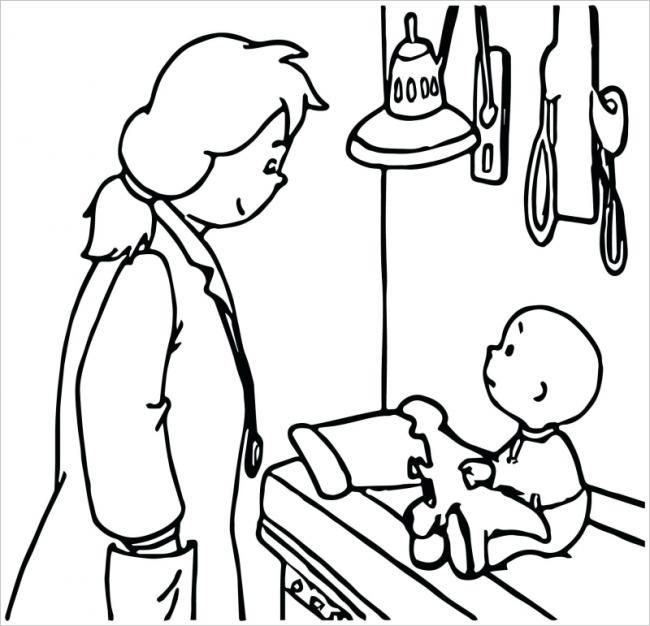 Nữ bác sĩ khám bệnh cho bé
