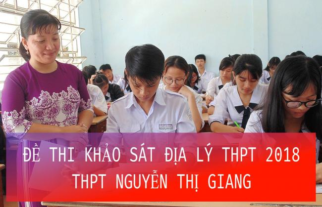 học sinh giải đề thi môn địa lý THPT Nguyễn Thị Giang