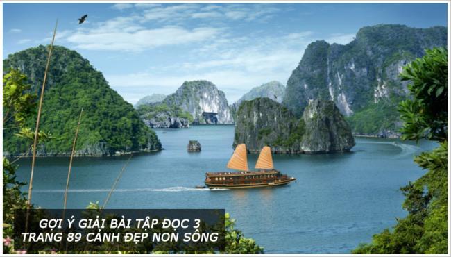 Gợi ý giải bài tập đọc 3 Trang 89 Cảnh đẹp non sông