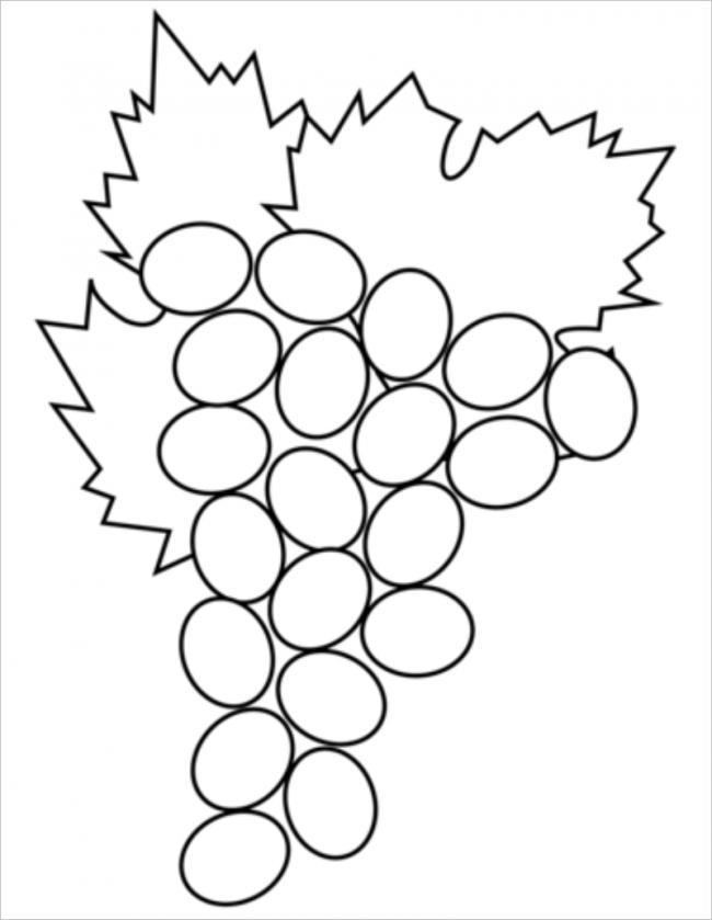 Осени без, картинка виноград для детей раскраска