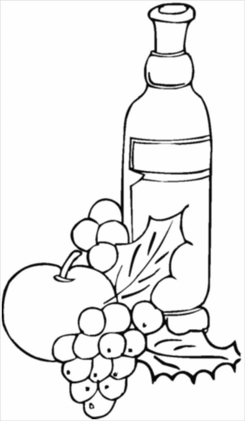 chùm nho và rượu vang