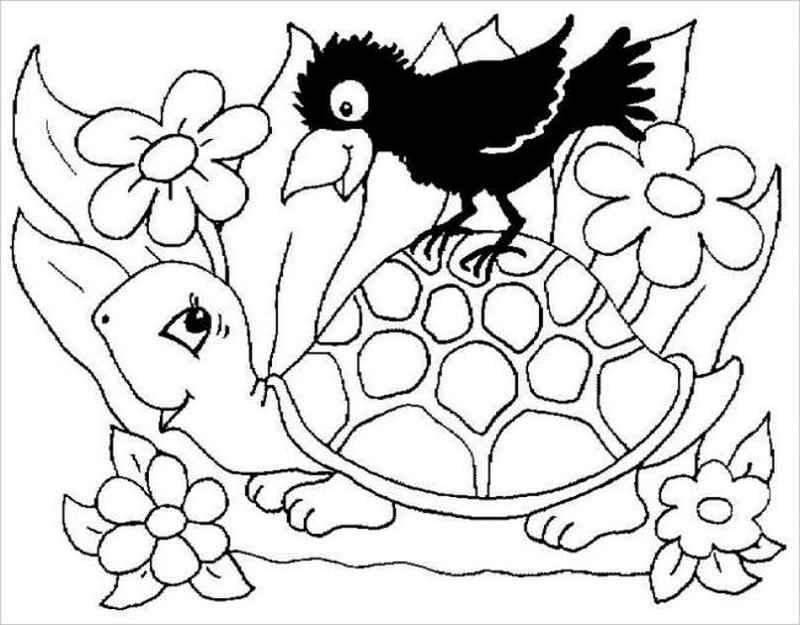 hình ảnh rùa và quạ
