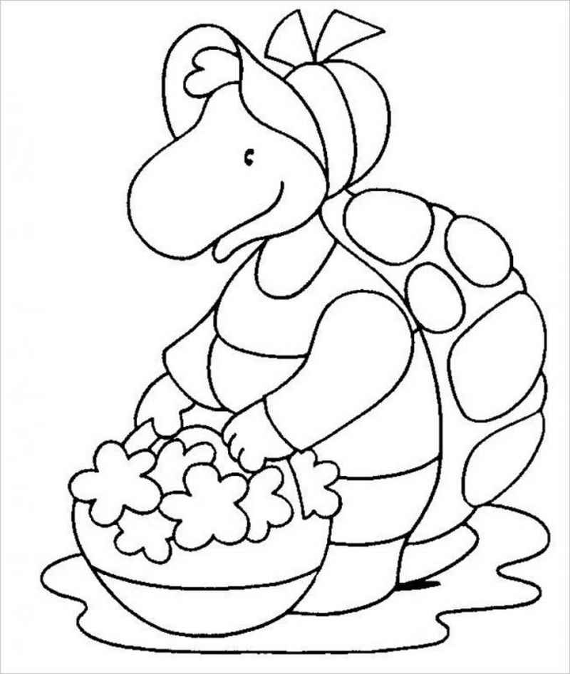 hình ảnh rùa hái hoa