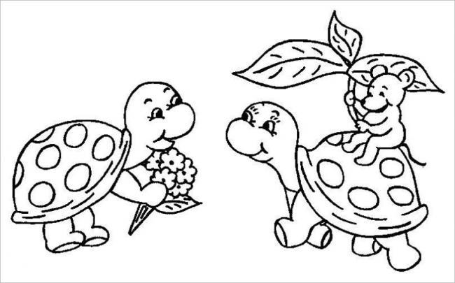 Rùa tặng hoa người bạn thân thiết