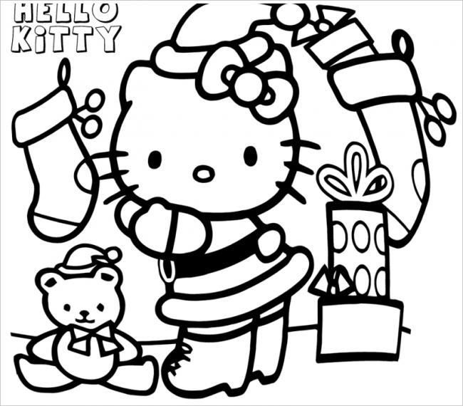Mèo kitty trang trí đón giáng sinh