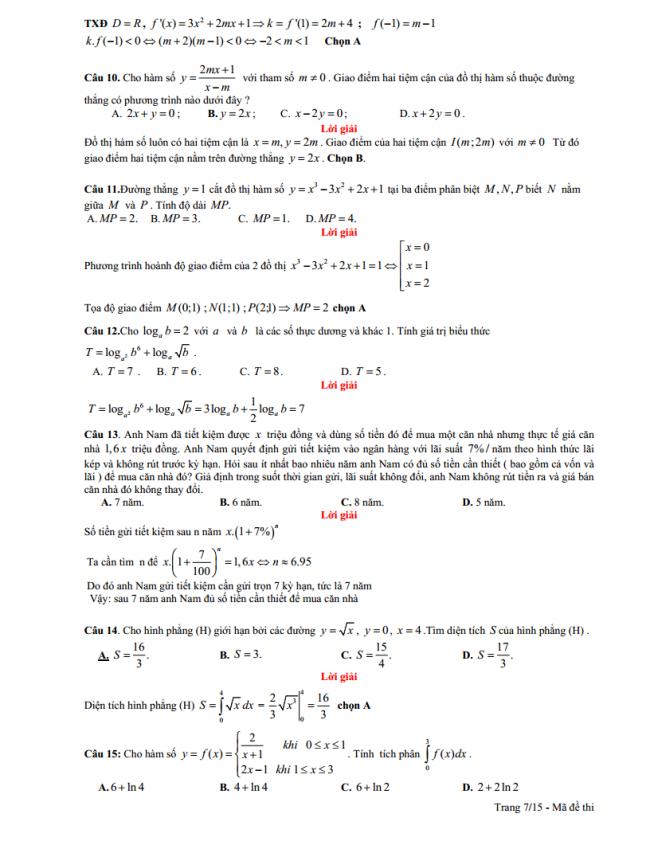 Đề thi thử THPT môn toán trường THPT chuyên Hùng Vương năm 2018.