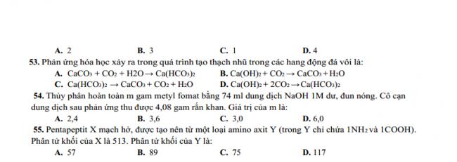 Đề thi thử trung học phổ thôngquốc gia 2018 lần 2 môn hóa học - Sở GD & ĐT Nam Định