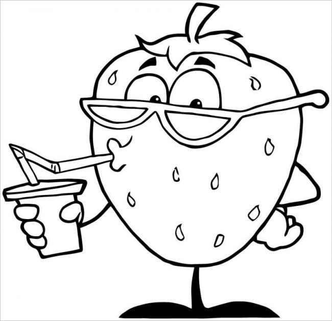hình ảnh quả dâu tây uống sinh tố