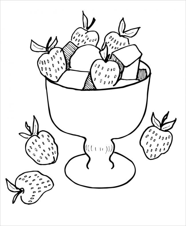 hình ảnh ly dâu tây