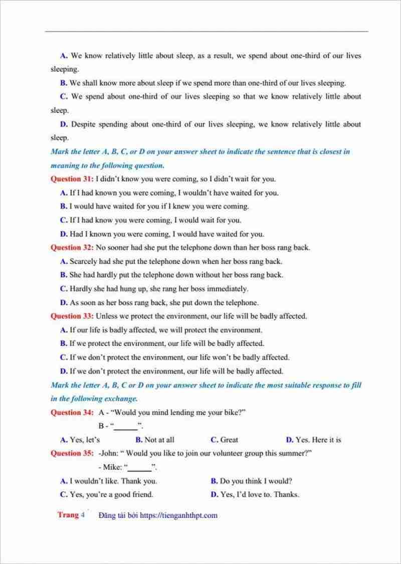 đề thi thử tiếng anh THPT Phan Đăng Lưu lần 1 (3)