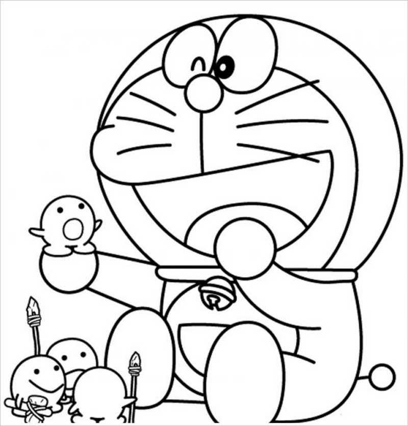 20 Tranh Tô Màu Doremon Cho Bé Yêu Thích Chú Mèo Máy Thông Minh