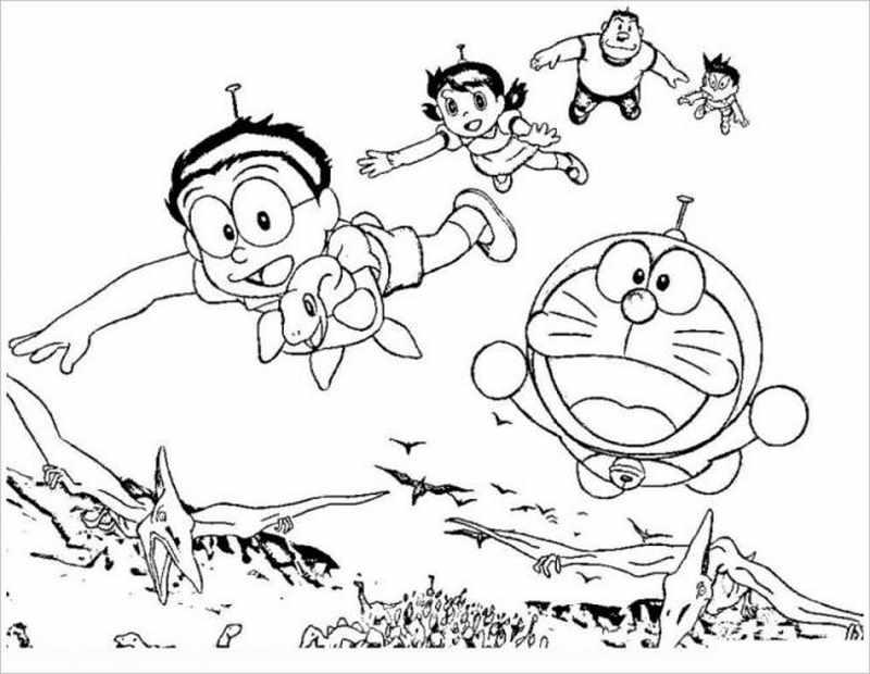 hình ảnh Nobita đang bay