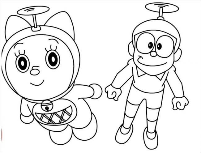 Nobita bay cùng mèo máyDoremi