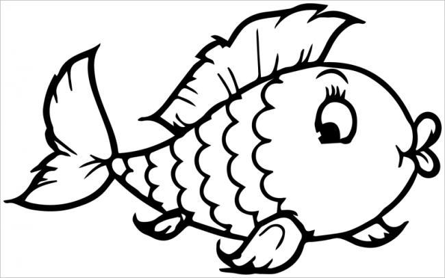 hình tô màu cá vàng