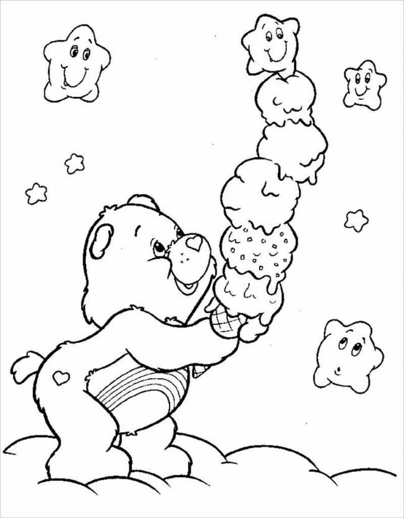 gấu con cầm cây kem