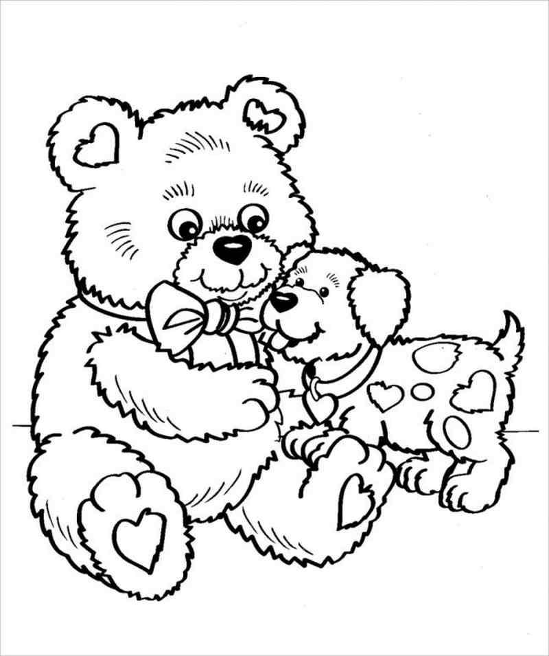 hình ảnh gấu và cún con