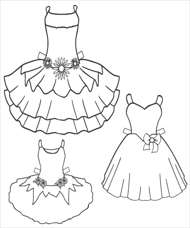 hình ảnh ba chiếc váy công chúa