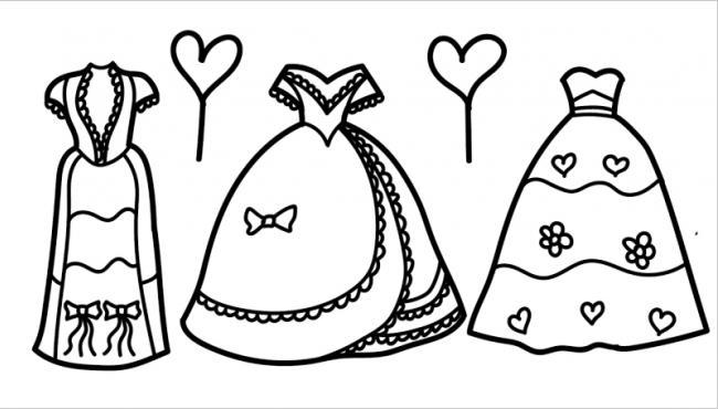 hình ảnh 3 chiếc váy công chúa