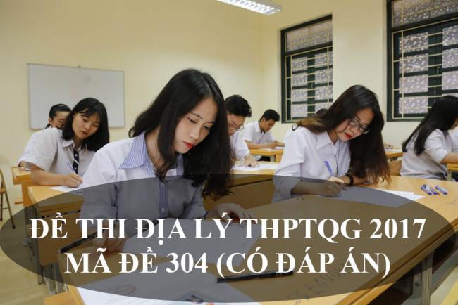 học sinh lớp 12 thi môn địa lý THPT năm 2017