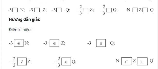 Giải bài toán tập hợp Q các số hữu tỷ trang 7 sách giáo khoa Toán lớp 7 bài 1