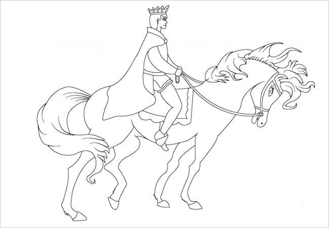 hình ảnh hoàng tử cưỡi ngựa