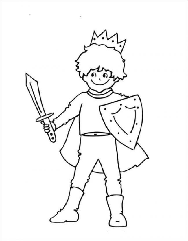 hình ảnh hoàng tử nhỏ đội vương miện